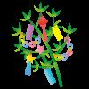 七夕飾りの制作で2歳児ができる作り方。簡単に折り紙を使って工作!