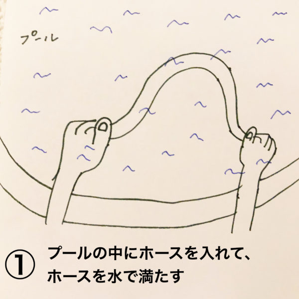 家庭用ビニールプールの排水のやり方